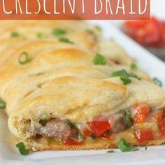 Cheese Steak Crescent Braid Recipe