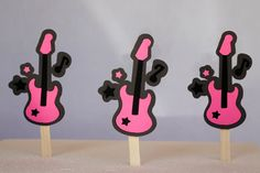 12 rock star rock girl guitar and music notes by HaveYourParty