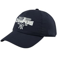 New Era New York Yankees Ladies Navy Blue 2009 World Series Champions Adjustable Slouch Hat