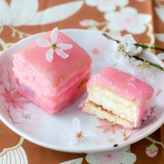 Cherry Blossom (Sakura) Petits Fours