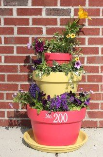EASY Tiered Planter with your House Number! - Trading Phrases tradingphrases.com