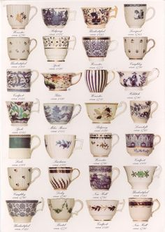 Early tea cups poster