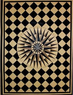 Starburst Floorcloth from Early American Floorcloths