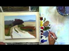 """The Red Tree"" Part 2 - Beginning Step by Step Acrylic Country Road Landscape Painting Demo - YouTube"