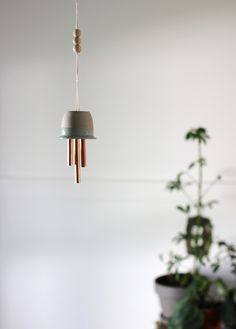 DIY Ceramic & Copper Wind Chimes