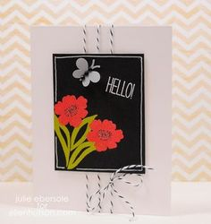 Julie Ebersole knocks another one out of the park. LOVE the bright embossing powder.