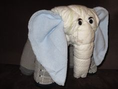 2 Diaper Elephants - CUSTOM MADE Big and Baby Diaper Animals, Baby Shower Decoration, Mom to Be Gift, Nursery Decoration. $38.50, via Etsy.