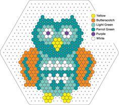 Owl hama perler pattern