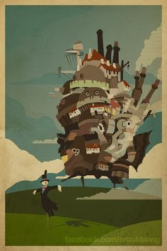 Howl's Moving Castle by Danny Haas, $20