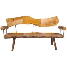1stdibs   Midcentury Organic/Rustic bench
