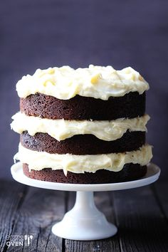 Guinness Chocolate Cake with Cream Cheese Frosting | gimmesomeoven.com #StPatricksDay