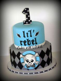 Lil' Rebel First Year cake — Birthday Cake Photos