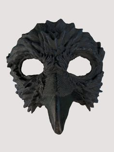 Adult Latex Raven Bird Half Mask Halloween Costume