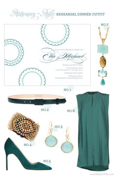 Stationery + Style: Rehearsal Dinner Outfit   Flights of Fancy