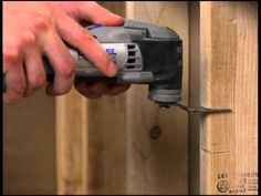 Notching lumber for conduits with the Dremel Multi-Max MM40.