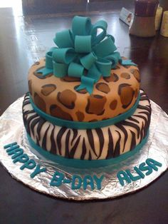 Cheetah Print Cakes | Animal Print Cake - the sugar shoppe