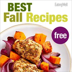 FREE Cookbook with our Best Fall Recipes such as this Chicken with Sweet Potatoes