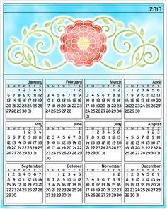 Don't Eat the Paste: 2013 Flower Calendar