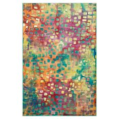 Add a splash of style to your master suite, living room, or den with this eye-catching rug, showcasing an abstract confetti-inspired motif for artful appeal....