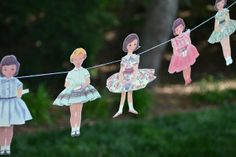 Three Pixie Lane: A Vintage Paper Doll Party