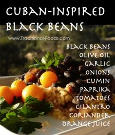 Cuban-Inspired Black Beans @ Traditional-Foods.com