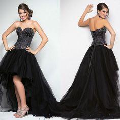 sexy black long tank dress beaded prom dresses sweetheart satin and organza hi low short front long back lace up corset closure