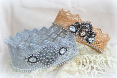 Homemade Lace Crows...Easy