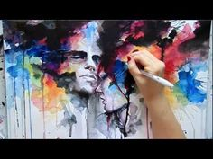 video I found with awesome mix media technics, I'm dying to go buy that white pen she used towards the end. amazing..