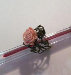 Fancy Vintage Design Filigree Adjustable Ring with by Doris2618, $3.00
