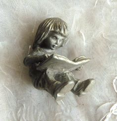 Hudson Pewter Figurine  Collectible Figurine  Girl by arepaki.etsy.com $8.00