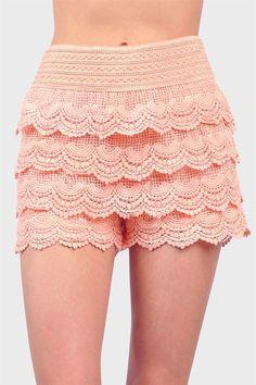 Peachy Crochet Shorts