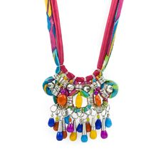 Fabric Statement Necklace by All the Rage :) Colourful :) #curiouscatch