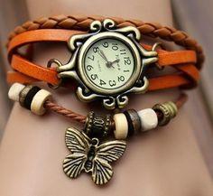 Leather Watch Bracelet