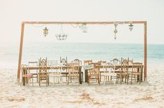 Shipwrecked elopement tablescape