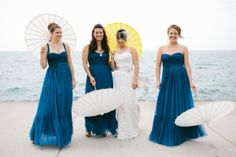 Bridesmaids in the BHLDN Niceties dress Photography By / pencarlsonblog.com,