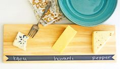 DIY Hostess Gift: Wood Cheese Tray with Chalkboard Accent
