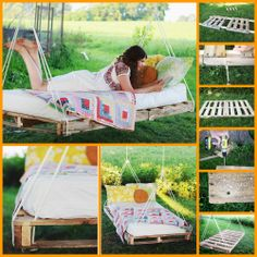 An outdoor swing bed is good, but one made from repurposed materials and completely DIY is better! Learn how you can make this DIY pallet swing bed for your outdoor space by viewing the full album at: http://theownerbuildernetwork.co/mjxy Are you a fan of swing beds?