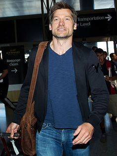 Star Tracks: Wednesday, August 27, 2014   IN TRANSIT   Game of Thrones actor Nikolaj Coster-Waldau makes his way through Los Angeles International Airport on Tuesday following Monday's Emmy Awards.