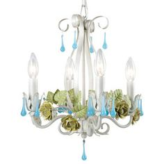 what a pretty mini chandelier. for a little girls room or a boudoir or a bathroom or anything that needs a girly touch.