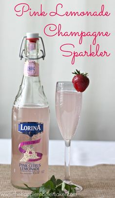 pink lemonade champagne, recip cocktail, cocktail recipes, cocktail parties, cheer