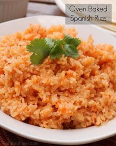 Oven Baked Spanish Rice...Everyone asks for this recipe. It is soooo simple! | reallifedinner.com Oven Baked Spanish Rice, Oven Baked Rice, Oven Spanish Rice, Stove Top Spanish Rice, Spanish Rice In Oven, Homemade Spanish Rice, Oven Baked Mexican Rice, Oven Rice, Recipe For Spanish Rice
