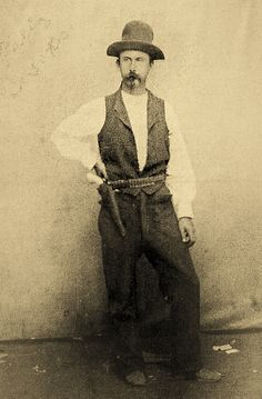 Billy Brooks reportedly shot it out with several men in various gunfights while working as a marshal in Newton, Kansas, and causing trouble as a badman in Dodge City. But when he returned to his old position as a stage driver for Southwestern Stage in 1874, the company lost a mail contract and Brooks was out of a job. He and others came up with a plan to steal the rival company's horses and mules to get back the contract.   – Courtesy Robert G. McCubbin Collection –