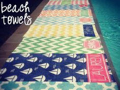 personalized beach towels from Haymarket Designs