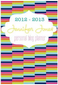 Personalized Blog Planner Printable Kit.