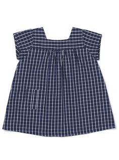 to make -- Navy and white check dress from Miller.