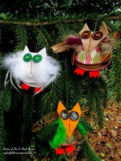 Felt & Fabric Scraps Owls (Garden of Len & Barb Rosen)