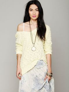 Free People Shaggy Knit Pullover, $98.00
