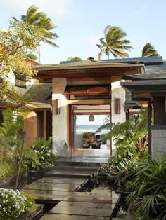 Ocean Front - tropical - patio