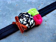 Trick or Treat Halloween Fabric Rosette Girls Headband