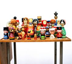 collection wooden dolls